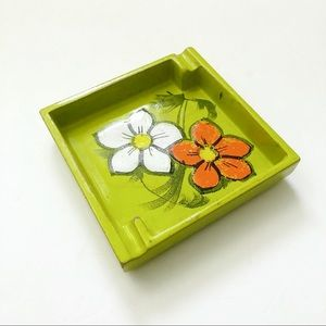 Vintage Bitossi Retro Mod Floral Italian Ashtray